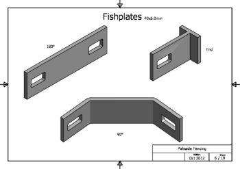 Fish plates security fencing pmb