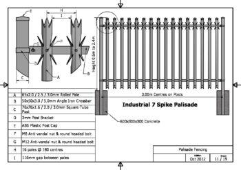 Industrial 7 Spike Palisade