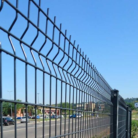 rigid clear view mesh fencing
