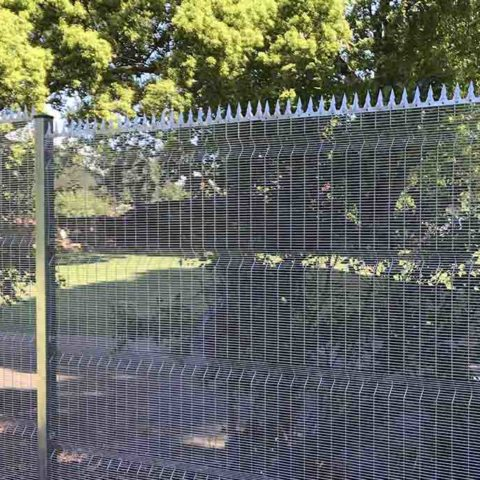 vista mesh invisible fence with razor spikes secure